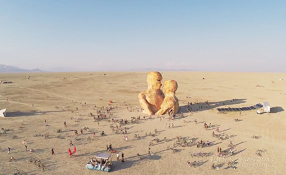 Drone's view of Burning Man 2014